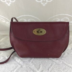 Mulberry Small Crossbody Pouch Deep Red